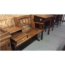 Oak Telephone Bench