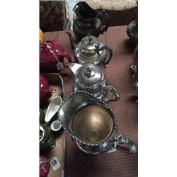 4 Silver-plate Pitchers/Coffee