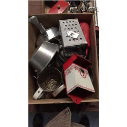 Box of Vintage Kitchen Items