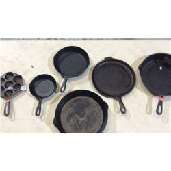 Lot of cast iron pans