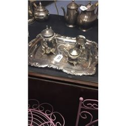 Small Silver Plate Set