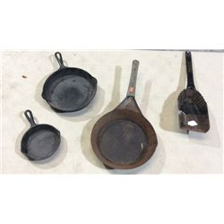 Lot of pans and a stove shovel