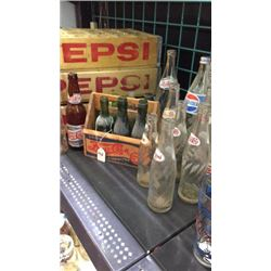 Collection of Pepsi bottles