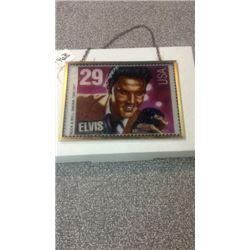 Elvis Stain Glass Stamp