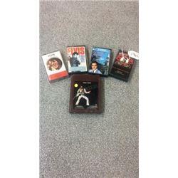4 Elvis Cassette Tapes and 1 Elvis 8 Track