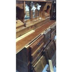 Wooden head board bed frame set