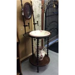 Antique Wash Stand with pitcher and bowl