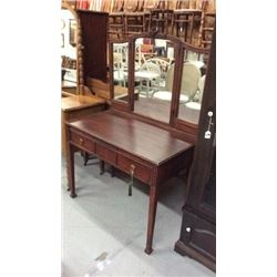 Antique Vanity with Trifold Mirror