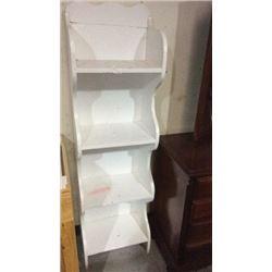 Decorative upright shelf
