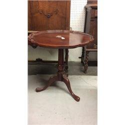 Pie Top Lamp Table