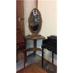 Antique Wash Stand with Mirror