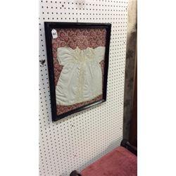 Framed antique Childs dress
