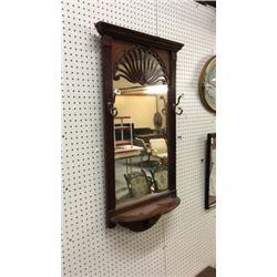 Mirror Shelf with coat hooks