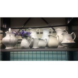 Lot of porcelain water pitchers