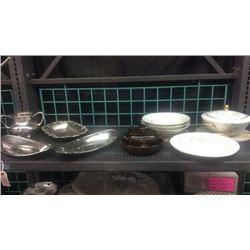 Lot of Glass Ware & silver ware