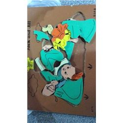 Jack and jill vintage wooden puzzle