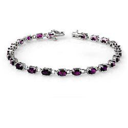 6.10 CTW Amethyst Bracelet 10K White Gold - REF-40H4W - 13585
