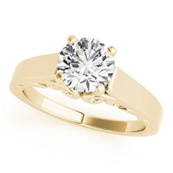 1.25 CTW Certified VS/SI Diamond Solitaire Ring 18K Yellow Gold - REF-488R2K - 27788