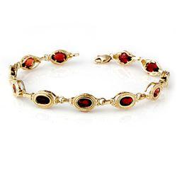 6.20 CTW Garnet Bracelet 10K Yellow Gold - REF-36T2X - 13852