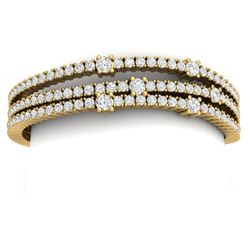 15 CTW Certified VS/SI Diamond Love Bracelet 18K Yellow Gold - REF-729W5H - 39979