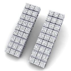 4 CTW Certified SI/I Diamond Earrings 18K White Gold - REF-235Y2N - 39947