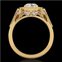 1.75 CTW VS/SI Diamond Solitaire Art Deco Ring 18K Yellow Gold - REF-436R4K - 37321