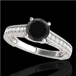 1.82 CTW Certified Vs Black Diamond Solitaire Ring 10K White Gold - REF-66R2K - 34955
