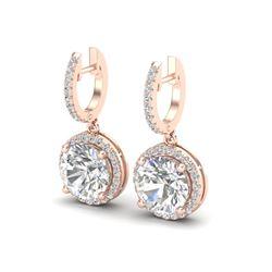 4.50 CTW VS/SI Diamond Certified Designer 14K Rose Gold - REF-1685F9M - 23182