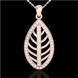 1 CTW Micro Pave VS/SI Diamond Certified Designer Necklace 14K Rose Gold - REF-84R8K - 21545