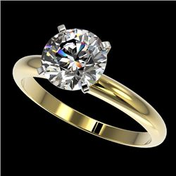 2.03 CTW Certified H-SI/I Quality Diamond Solitaire Engagement Ring 10K Yellow Gold - REF-573N3Y - 3