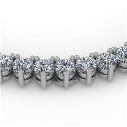10 CTW Solitaire VS/SI Diamond Necklace 14K White Gold - REF-392X3T - 40198