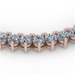 25 CTW Solitaire VS/SI Diamond Necklace 14K Rose Gold - REF-2250X2T - 35630