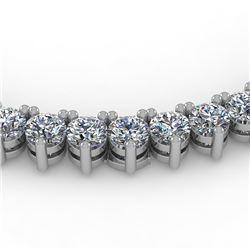 18 CTW Solitaire VS/SI Graduated Diamond Necklace 14K White Gold - REF-1009W3H - 40204