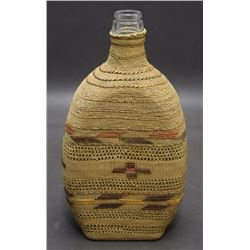 TLINGIT BASKETRY BOTTLE