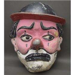 VINTAGE METAL CLOWN MASK