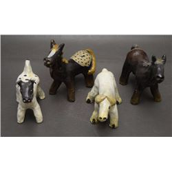 NAVAJO POTTERY ANIMALS