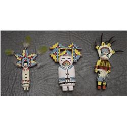 3 MINI FOLK-ART DOLLS