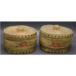 MATCH PAIR OF MAKAH BASKETS