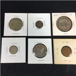 Group of Carded World Coins Inc. 1946 Australian Florin