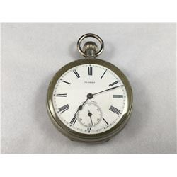Early Florida Swiss Made Pocket Watch With Sub Second Dial  - Runs Well