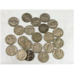 Group of 22 USA Indian Head Nickels