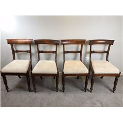 Set of Four Regency Period Rosewood Side Chairs