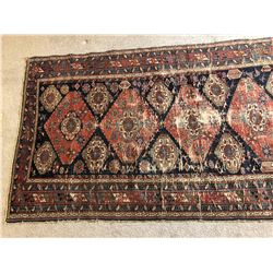 c1900 Original Kurdish Bagface Rug - Moderate Wear - 8ft x 4ft 2""
