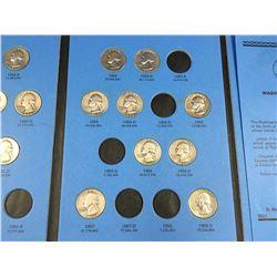 Whitman Folder of Washington Quarters 1948-1964 Inc. Coins