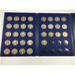 Album of US Silver Quarter Dollar Coins - Total 33 Silver Quarter Dollar Coins