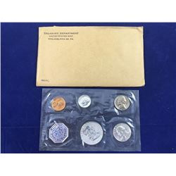 1961 US Proof Coin Set (In Original Packaging) Includes Silver Half Dollar, Silver Quarter & Silver