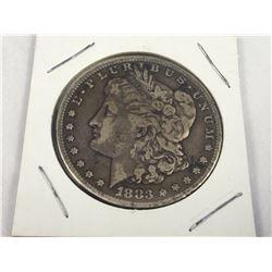 1883-S US Silver Morgan Dollar Coin (San Francisco Mint) Nice Grade