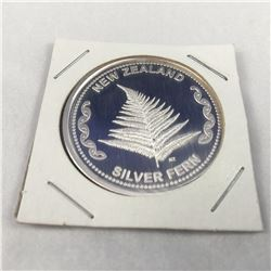 1oz .9999 Fine Silver Aotearoa Silver Fern New Zealand Silver Round