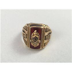 10ct Davenport Mens Gold Ring - Inside Diameter 18.25mm - Weight 7.00 Grams