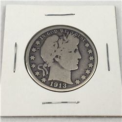1910-S US Barber Silver Half Dollar Coin - (San Francisco Mint) - Low Mintage only 604K Minted!!